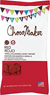 ChocoMaker Red R Vanilla Flavored Candy Wafers 12oz