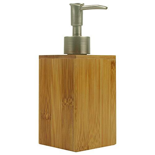 Montloxs Dispensador de jabón de baño de 500 ml Dispensador de champú dispensador de Botella Cocina Dispensador de jabón de Mano líquido de bambú para Cocina