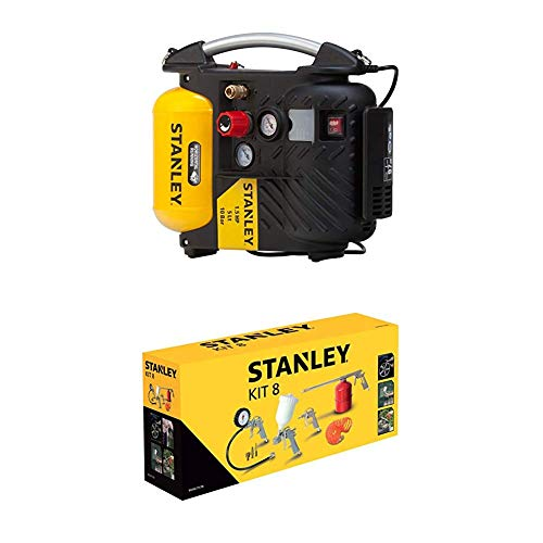 STANLEY Compressor DN200/10/5 + Airtoolkit 8 pieces