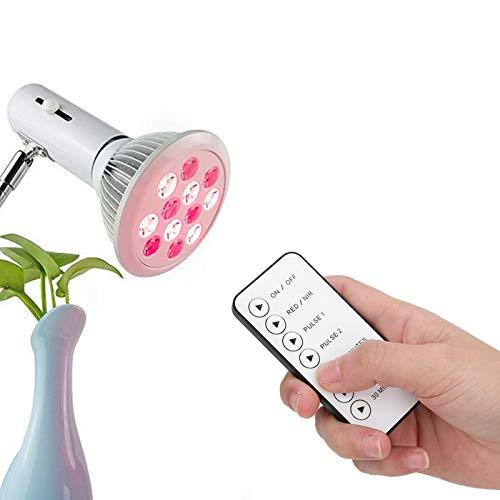 Brrnoo Infrarot-Physiotherapielampe mit beheiztem 24-W-Rotlichttherapielichtgerät mit 3-Timer-Einstellung, LED-Schönheitsheizlampe zur Entfernung von Hautpflege-Narben