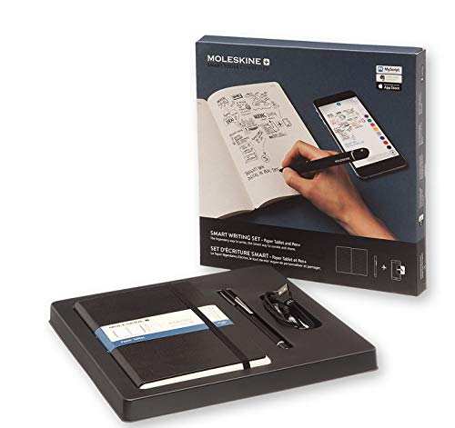 Moleskine Smart Writing Set Notebook e Pen+ Smartpen, Taccuino con Copertina Rigida Nera Adatta all'Uso con Pen Moleskine+ ,...