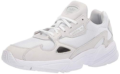 adidas Originals Women's Falcon Shoes Sneaker, White/White/Crystal White, 10.5