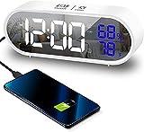 RunSnail Réveil numérique avec grand affichage de la température LED, horloge de chevet avec 40...