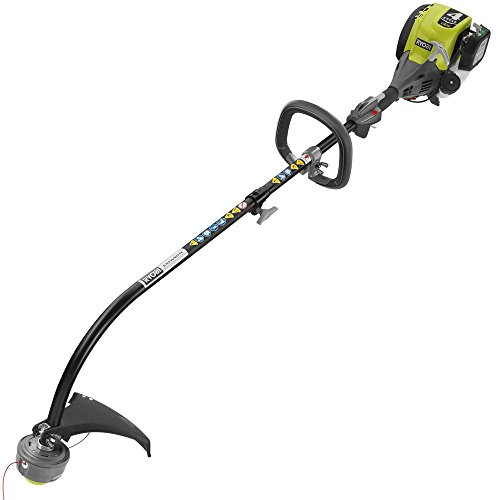 Ryobi 4-Cycle Attachment Capable Curved Shaft Gas Trimmer