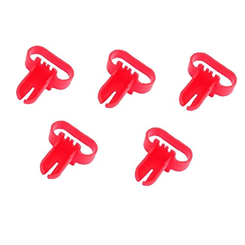 fedsjuihyg Función del Arco del Globo Garland moldura Decorativa Kit Multi látex Globo Corbata Herramientas portátiles Que ata el Nudo de Globo Globos Herramienta de Accesorios 5PCS Rojo-Decoración