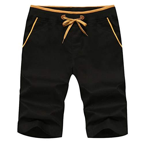 Pantalones cortos de los hombres de estilo casual de verano pantalones cortos de algodón de playa pantalones cortos