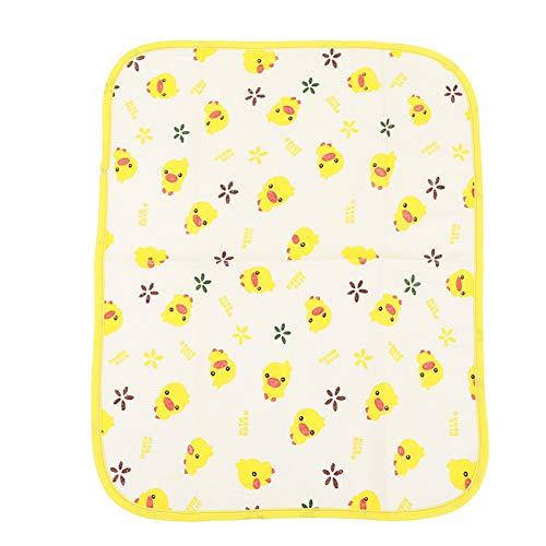 Geel Eend Cartoon Nano Herbruikbare Waterdichte Baby Isolatie Pad Pasgeboren Wasbaar Katoen Baby Mattrice 40 * 50cm C