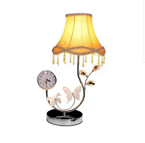Pyrojewel moderno Lámparas de mesa, personalidad simple Continental lámpara de cabecera, dormitorio luces 3W temporizador Interruptor de temperatura tercera marcha ajustar el color sin la lectura de c