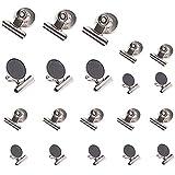 Auidy_6TXD 20 Stück Magnetclips, Superstarke Magnetclips & Kühlschrank Magnete mit Klammer für...