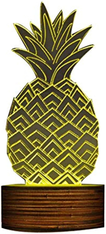 3D Ananas Form Kreatives Design LED Nachtlicht, Sleepy Nachtlampe Moderne Handgemachte USB Lampe Ananas Obst Geschenkidee