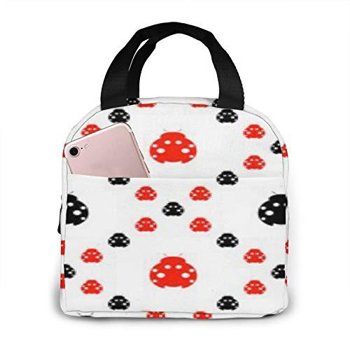 Bolsa de almuerzo aislada portátil simétrica de insectos BONRI, bolsa de almuerzo aislada reutilizable, lonchera portátil, bolsa de almuerzo, bolsa de almacenamiento