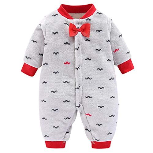 DEBAIJIA Baby Strampler 0-2T Neugeborene Overall Säugling Jumpsuit Kleinkind Spielanzug Footed Nachthemd Junge Mädchen Unisex (Grau-59)