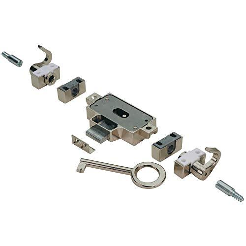 Hettich Nutbart-Drehstangenschloss für DIN rechts Türen, Dorn-ø 4 mm, 1 Stück, 89076