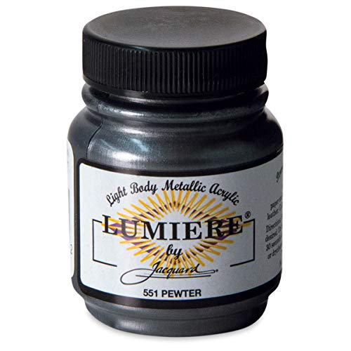 Jacquard Products Lumiere Fabric Paint 2 Oz. Jar: Pewter