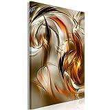 murando Quadro Astratto 80x120 cm 1 pezzo Stampa su tela in TNT XXL Immagini moderni Murale Fotografia Grafica Decorazione da parete Onda oro orange marrone a-A-0530-b-a