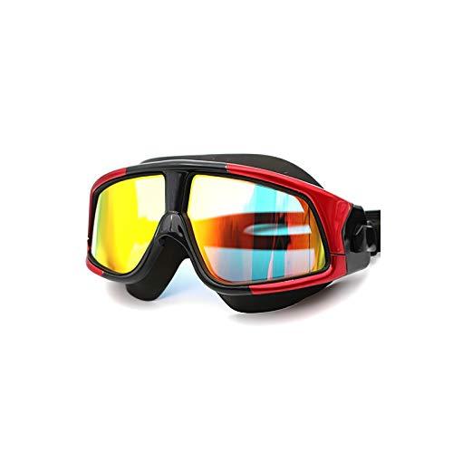 STRMSF Gafas de natación ajustables, antivaho, con revestimiento plano, para adultos