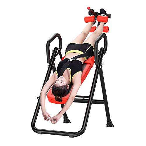 Best Deals! FQCD Deluxe Inversion Table with Adjustable Head Pillow & Lumbar Support Pad Yoga Invers...