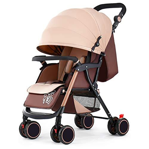 Poussettes Baby, Suspension pour bébé léger Pliable 4 Roues Suspendu Nouveau-né Chariot Poussoir réglable en Hauteur