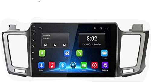 GPS Navigation Head Unit Sat Nav Auto Audio Player MP5 FM Radio Receptor Coche Estéreo De 9 Pulgadas Táctil Android 9.0 Compatible para Toyota RAV4 2013-2018,4 Core 4G+WiFi 1+16GB