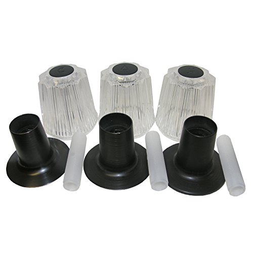 LASCO 01-9061OB Price Pfister Three Valve Trim Kit includes: Three Large Windsor Plastic Handles with Index Buttons, Flanges and Nipples, Oil Rubbed Bronze