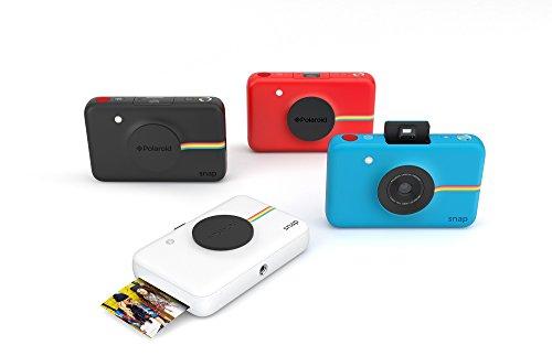 【データも保存できる】ポラロイドSnapデジタルインスタントカメラ(ブラック)プリンタ内蔵ZINKフォトペーパー対応(Black)