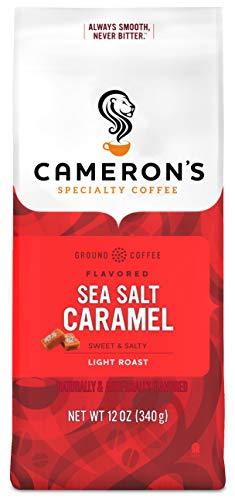 Cameron's Coffee Roasted Ground Coffee Bag, Flavored, Sea Salt Caramel, 12 Ounce