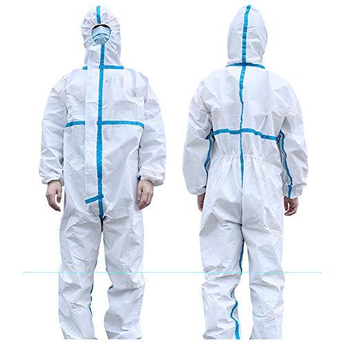 XIEJI Einweg-Schutzanzug Körper mit Cap Antistatische Isolation Anzug Anti-Infektion,XL
