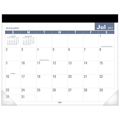 """AT-A-GLANCE Academic Desk Pad Calendar, July 2017 - June 2018, 21-3/4"""" x 17"""", Monthly, E-Z Read (SKLPAY32) Photo #3"""