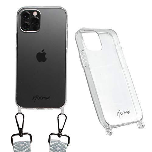 NOOMYA® Premium Handyhülle für Handykette iPhone 12 | 12 PRO | Schutzhülle zum Umhängen für Smartphone | Handy Hülle | Zubehör für Umhängeband Kordel Necklace Handytasche