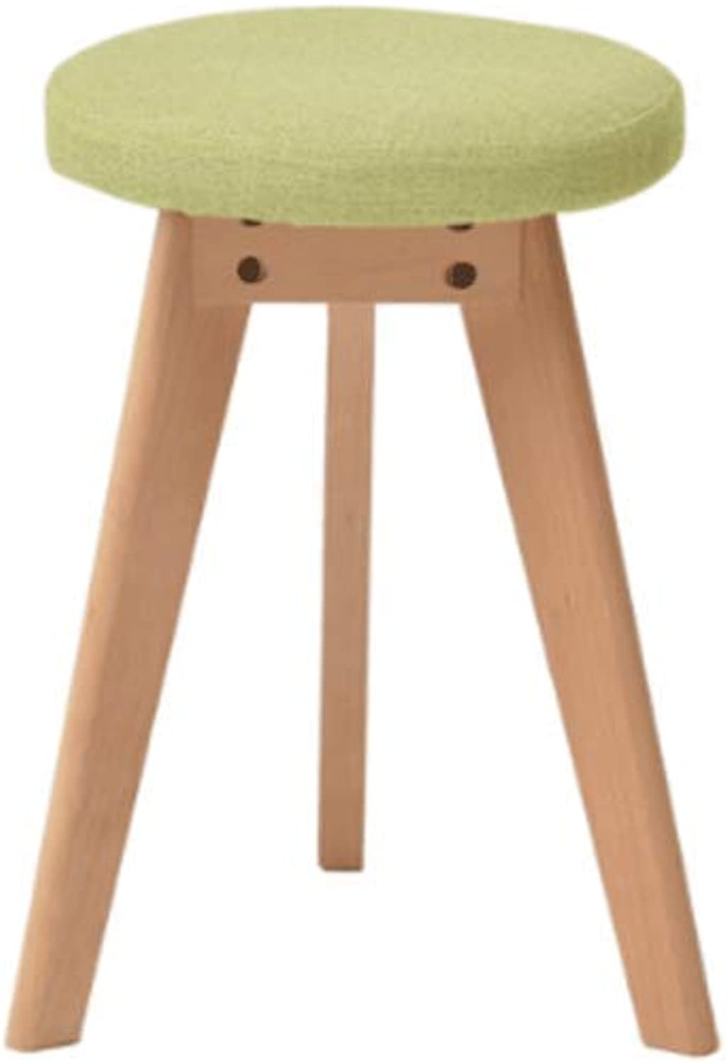 Fashion Creative Wooden Bench Green Small Bench Home Dining Table Stool