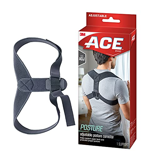 ACE Posture Corrector, Fits Men and Women, Helps Promote Better Posture, While Working From Home or Office, Back Support, For Men and Women, Adjustable
