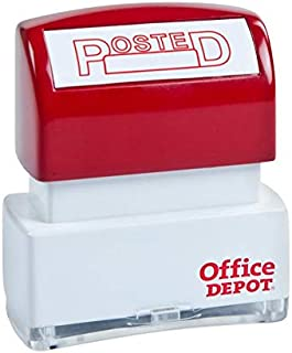 Red OfficemateOIC Office Pre-Inked Message Stamp,Posted with Date 77030 Refillable