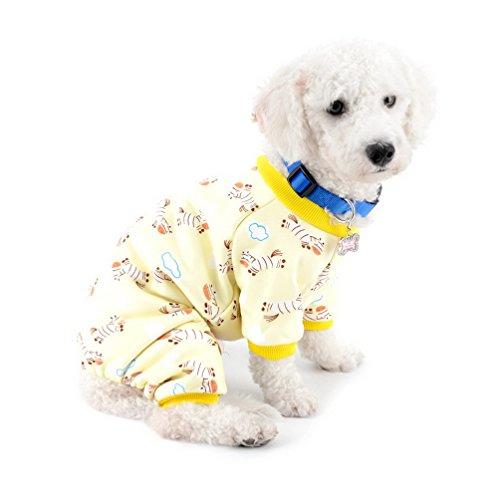 SELMAI Haustier-Pullover für kleine Hunde, Schlafanzug, weiche Strickkleidung für Welpen und Katzen Gelb M