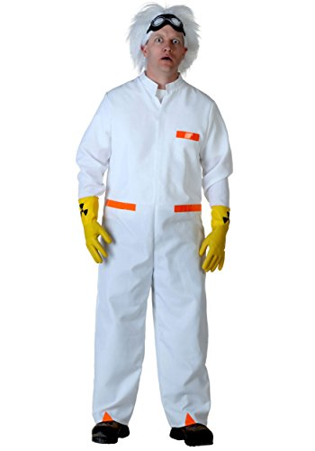 Plus Size Doc Brown BTTF 1 Fancy Dress Costume 2X