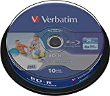 10 Verbatim DataLife BD-R Blu Ray Vergine 25GB printable stampabile...