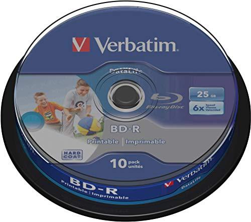 Verbatim BD-R SL Datalife 25 GB - Blu-Ray-Disk - 6-fache Brenngeschwindigkeit - Kratzschutz - 10 Stück Spindel