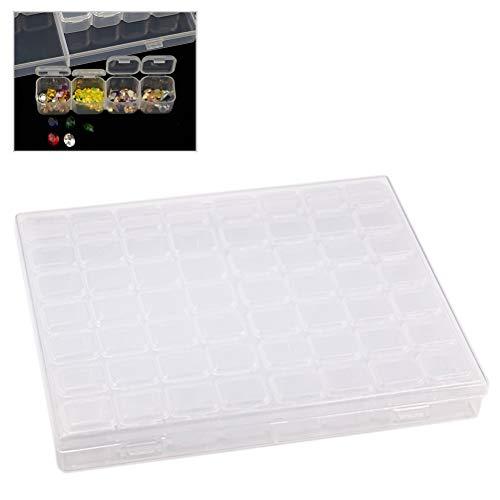 Gutyan Jewelry Contenitore di plastica 56 slot Clear Jewelry Box Nail Art Casella di smistamento Diamante regolabile Scatola di immagazzinaggio di perline Scatola di visualizzazione Caso Organizzatore
