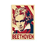 RTYHJ Beethoven Poster, dekoratives Gemälde, Leinwand,