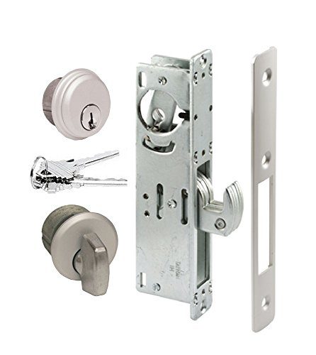 Pacific Doorware Storefront Door Mortise Lock Hook Deadbolt & Cylinder Combo, Adams Rite Cam, in Aluminum (1-1/8