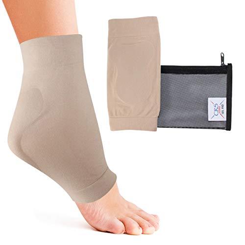 Crs Kreuz Achillesferse–Gepolsterte Kompression Gel Hülle/Socke für Kissen und Schutz der haglunds Bump, Sehnenentzündung, und Bursitis (2Ärmel mit Tasche)