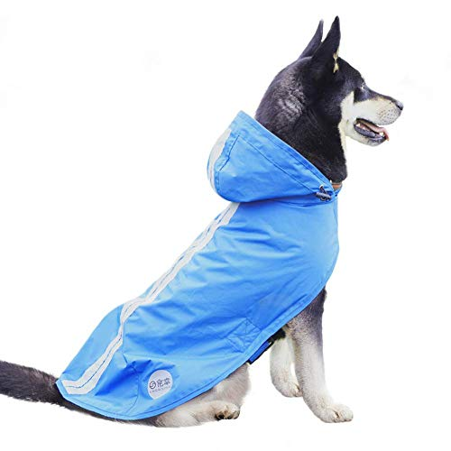 Nourse CHOWSINGPet Dog Raincoat for Medium Large Dogs Rain Jacket with Hood Rain Poncho Water Proof...