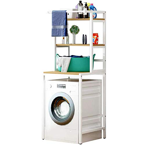 Over Wasmachine Opslag Badkamer Plank met Verstelbare Voet Pad 3 Lagen Boven De Opslag Rek voor Wasmachine Opslag Plank voor Shampoo, Toiletten, Badkamer Organizer gdfgdfsgfdfdhb