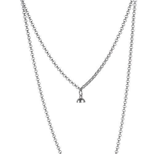 Regalo de moda para pareja amigo collar atractivo collar imán collar O en forma de collar cadena collar de acero inoxidable (estilo C)