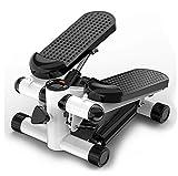KDJJH Mini Stepper Fitness, Stepper hidráulico Mini Stepper Multifuncional Máquina de Step Swing Máquinas de Step para Fitness con Pantalla LCD Equipo de Ejercicios,Black_30x38x20cm/12x15x8inch