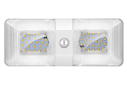 ShinePick LED Innenbeleuchtung Auto,KFZ Innenraumbeleuchtung, DC 12V 600LM RV Deckenleuchte Innenlampe mit ON/Off Schalter, Universal Beleuchtung für Auto RV LKW Wohnwagen Wohnmobil Boot (1er Pack)