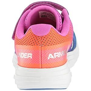 Under Armour Girls' Pre School Surge RN Prism Adjustable Closure Sneaker Tempest, Tempest (403)/Peach Plasma, 13K