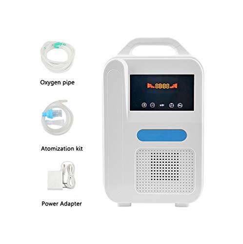 FEDYS Concentratore di Ossigeno Portatile per Casa/Auto/Esterno Piccolo Respiratore Ossigeno 1000 Ml/Min Regolabile Macchina per Ossigenoterapia con La Funzione di Atomizzazione,Home
