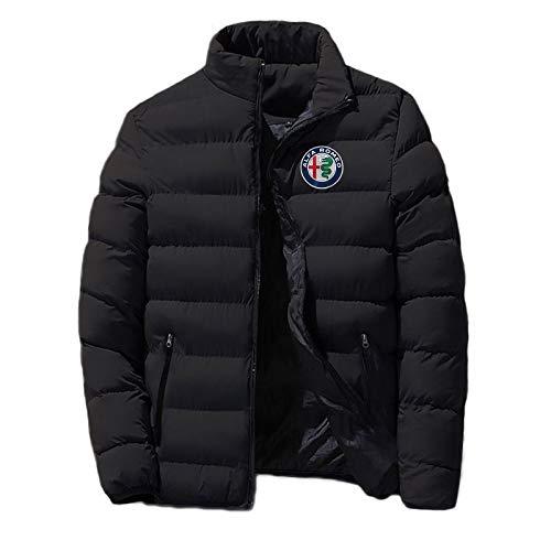 coats 2020 Alfa Romeo Hombres Moda Chaqueta Cremallera Cómodo Algodón Ropa Invierno Caliente Estilo Clásico Masculino Tops