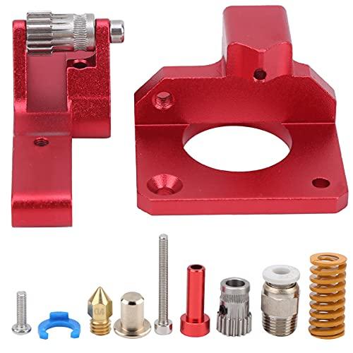 Estrusore per stampante 3D Dual Gear Doppia testina di taglio pneumatica adatta per stampante rossa originale con ugello a blocco in alluminio Borsa a molla di accessori per Ender-3, CR-10S PRO, Btech