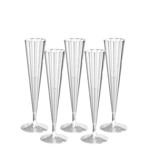 Party Essentials Deluxe/Elegance 2 pièces Plastique rigide 141,7 gram flûtes à champagne, plastique, claire, 50-Count